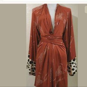 Issa London Vintage silk zebra print dress